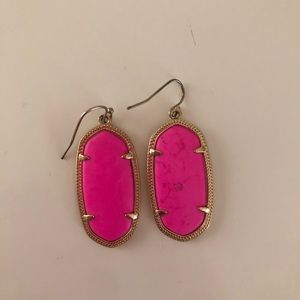 Hot pink large size Kendra Scott earrings